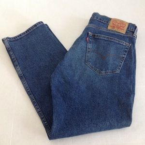 Mens Levis 505 Blue Denim Jeans Regular Straight